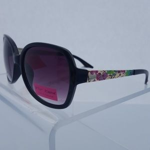 Betsey Johnson Sunglasses Gold & Black Floral